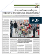 Estimular Demanda Para Contener Desceleración de La Economía_Gestión 8-05-2014