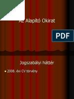 Az Alapito Okirat