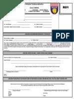 Borang Pendaftaran Individu R01 LELAKI