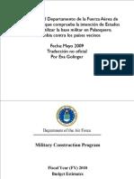 documento del departamento de la fuerza aérea de estados unidos que comprueba la intención de estados unidos de utilizar la base militar en palanquero, colombia contra los países vecinos