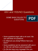 Wh Questions Rules Ppt