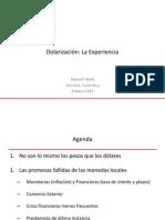 Manuel Hinds - Dolarización - Caso de El Salvador