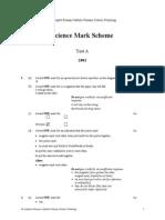 Science 2001 Test a Mark Scheme