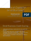 Source of Capital for Small Business