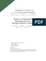 Cinética Da Hidrogenação Da Adipontrila Sobre Catalisador de Ródio-Alumina