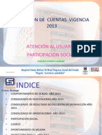 Rendicion de Cuentas 20140314 Oficina de Atención a Usuarios