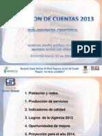 Rendicion de Cuentas 20140314 Subgerencia Cientifica
