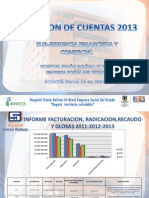 Rendicion de Cuentas 20140314 Subgerencia Financiera y Comercial