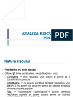 Analiza Riscului in Proiecte