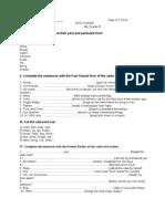 0 31.III.2014 Test Paper Irregular Verbs