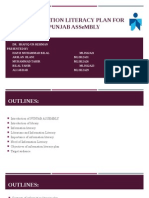 Information Literacy Plan For Punjab Assembly library