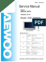 Schema Electronica Daewoo Dsc-30w60n  Sc-110 Relese-1 Sm