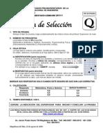 Prueba Seleccion Pre 2011-1