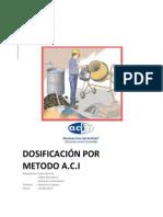 Informe Metodo Dosificacion Aci 2