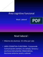 Area Cognitivo Funcional
