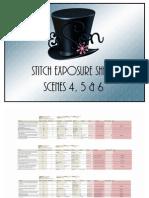 Stitch Exposure Sheets