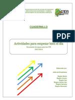 Cuadernillo Actividades Para Empezar Bien El Día Enero 2014