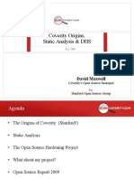 Coverity Origins, Static Analysis & DHS