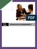 UFCD_7842 - Técnicas de Atendimento_índice