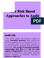 Risk-Based Approaches Materiality Planning Internal Control