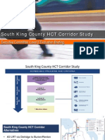 South King County HCT Sound Transit study progress report