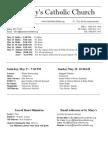 Bulletin for May 11. 2014