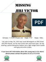 Missing Poster for Omahri Victor