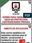 Exposicion NFPA 22