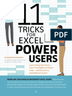 Tips&Tricks for Excell Power Users