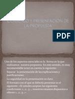 Comienzo y Presentación de La Propuesta