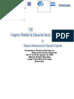 VIII CONGRESO MUNDIAL DE EDUCACION INICIAL Y ESPECIAL