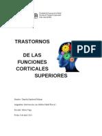 Trastornos de La Funciones Corticales Superiores