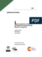 Cepal_los Planes Sociales en Argentina