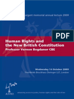 Human Rights and the New British Constitution