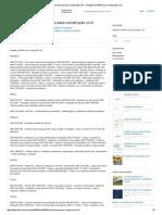 Normas Técnicas Para Construção Civil - Relação de NBRS Para Construção Civil
