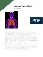 Dangers of Pneumonia for the Elderly