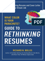 Excerpt From What Color is Your Parachute? Guide to Rethinking Resumes by Richard N. Bolles
