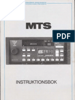 Mts Radio 1981 -, Instructions Incl Frequency Map of Sweden