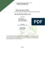 Plan de Area Metematicas