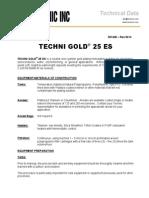 Techni Gold 25 Es Data Sheet