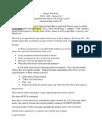 project text final essay prompt