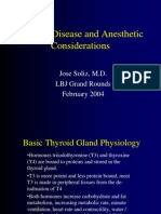 Thyroid Disease Anesthetic Considerations
