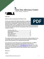 Jane Doe Advocacy Questions