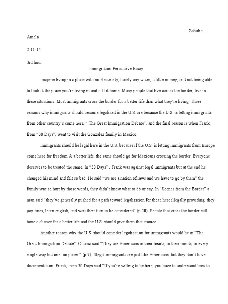 illegal immigration 5 essay Solution to illegal immigration essay pages: 5 (2008 words) | style: apa | sources: 6 solution to illegal immigration the problem of illegal immigration.