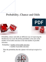 Probability, Chance and Odds