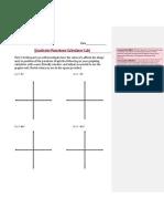 quadratic functions calculator lab