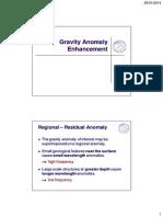 Gravity Anomaly Enhancement