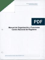 Manual de Organizacion y Funciones Del CNR