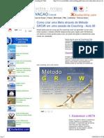 Como Criar Uma Meta Através Do Método GROW _ Coaching de Vida