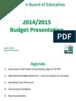 2014/2015 Budget Presentation